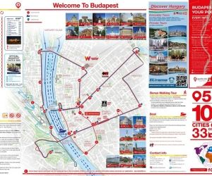 Hop On Hop Off Budapest timetable from 18.07.2020
