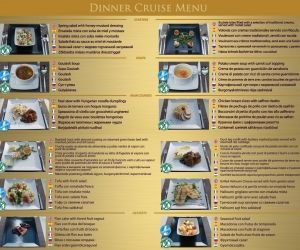 Menu Folklore Operetta Dinner cruise