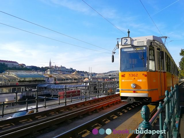 Picturesque Budapest public transport lines