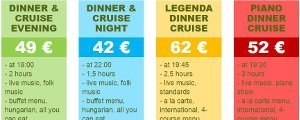 Comparison Budapest dinner cruises