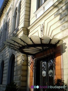 The entrance of the Queen Elisabeth ballroom, Gundel, Budapest