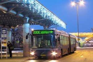 Budapest public transport by night - Budapest Airport bus 200E