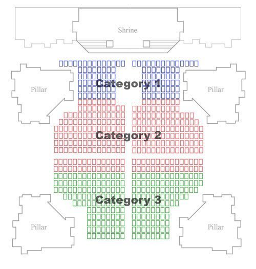 Organ concert in St Stephen Basilica seating plan