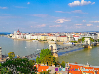 View from the Royal Palace: Chain Bridge, Parliament