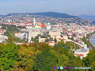 View from the Citadel: Buda Castle with the Matthias Church