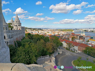 View from the Fisherman's Bastion: Buda Castle District